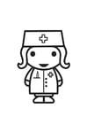 Coloring page Nurse