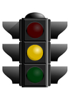Image orange traffic light