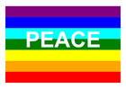 Coloring pages peace flag