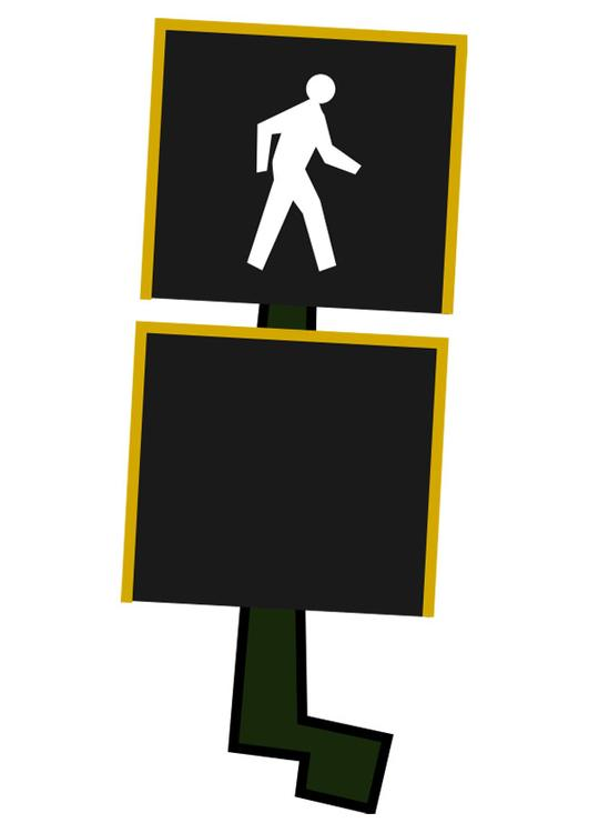 pedestrian crossing light - cross