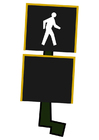 Image pedestrian crossing light - cross