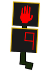 Image pedestrian crossing light - stop