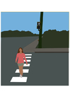 Image pedestrian crossing