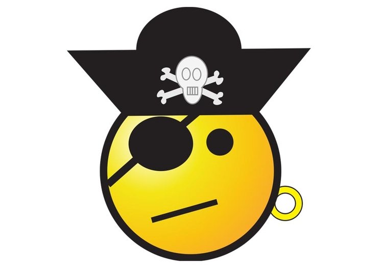 Image pirate smiley