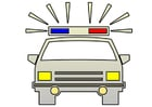 Coloring pages police car