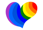 Image rainbow heart