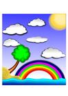 Image rainbow landscape