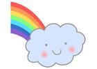 Image rainbow with cloud