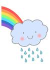 Image rainbow with rain