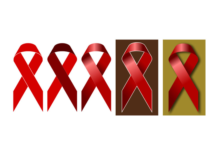 Image red ribbon World AIDS Day