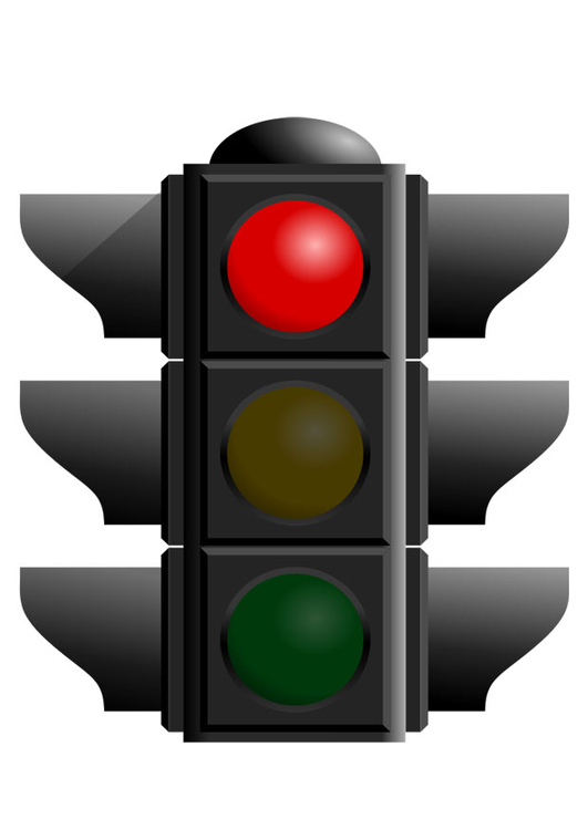 Image red traffic light