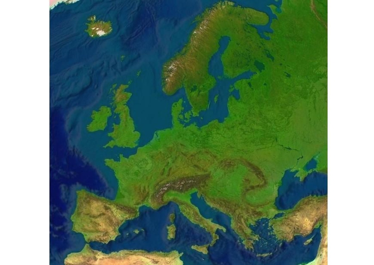Image relief map Europe
