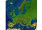 Images relief map Europe