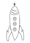 Coloring page rocket