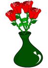 Image roses in vase