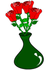 Images roses in vase