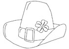 Coloring page Saint Patrick's Day hat