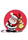 Image Santa Claus and reindeer