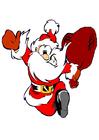 Image Santa Claus running