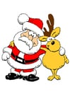 Image Santa Claus with reindeer