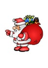 Image Santa Claus with toys