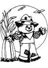 Coloring page scarecrow