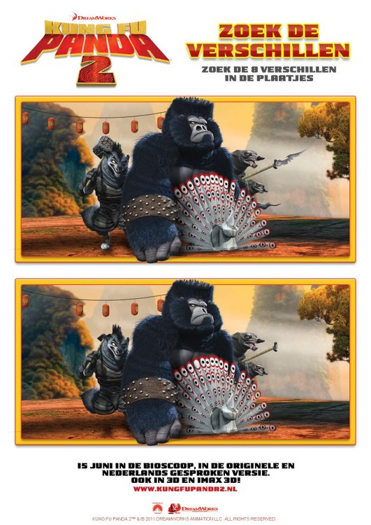 Image seek the difference - Kung Fu Panda 2