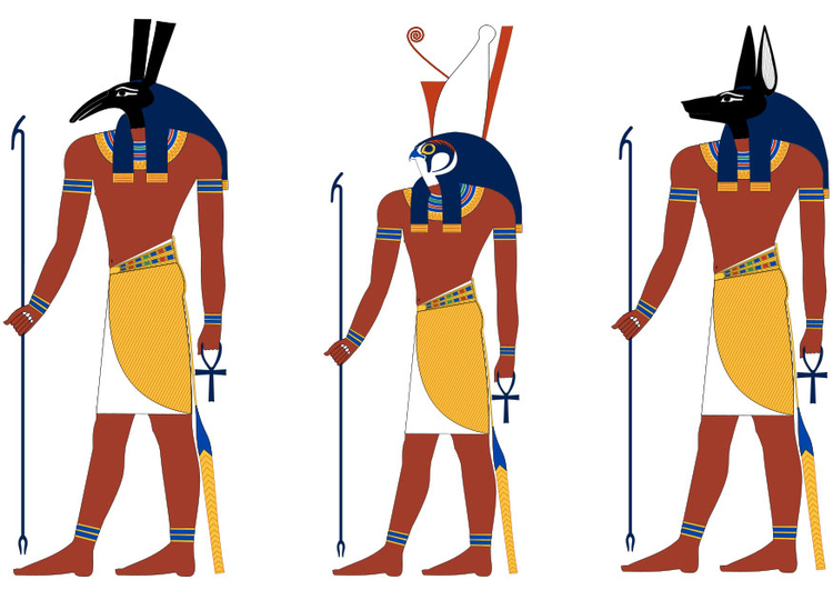Image Set Horus and Anubis