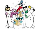 Image singing snowmen