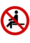 Coloring pages sitting prohibited