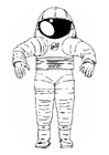 Coloring page space suit