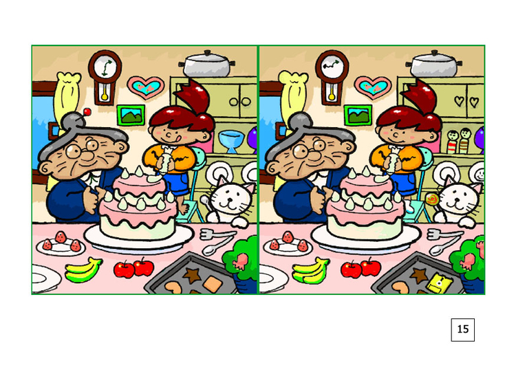 Image spot the difference - to bake a pie