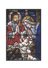 Image stained glass - birth of Jesus
