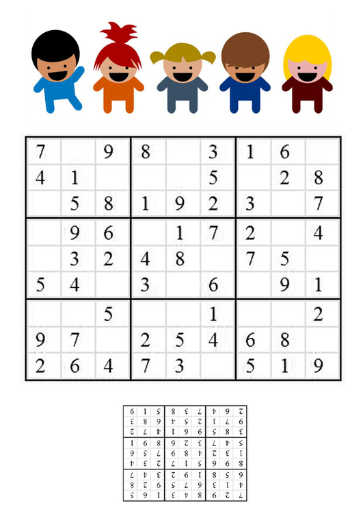 Image sudoku - children