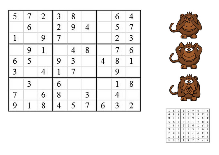 Image sudoku - monkeys