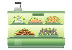 Image supermarket - fish counter