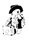 Coloring page teddy bear goes travelling