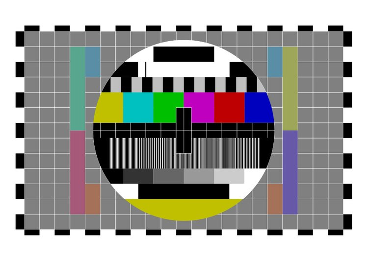Image test screen television