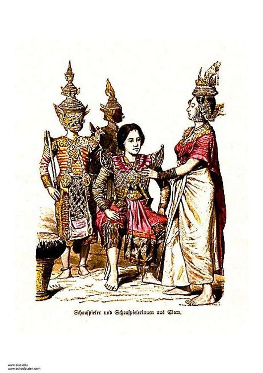 Thai dancers 19th century