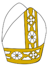 Coloring pages the pope's mitre