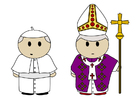 Coloring pages the pope's robes
