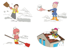 Coloring pages to clear snow