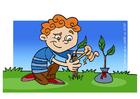 Image to nurse a tree