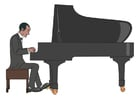 Images to play the piano