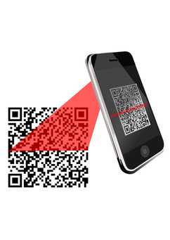 Image to scan a qr with smartphone
