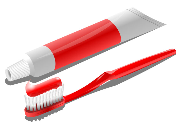 Image toothbrush and toothpaste
