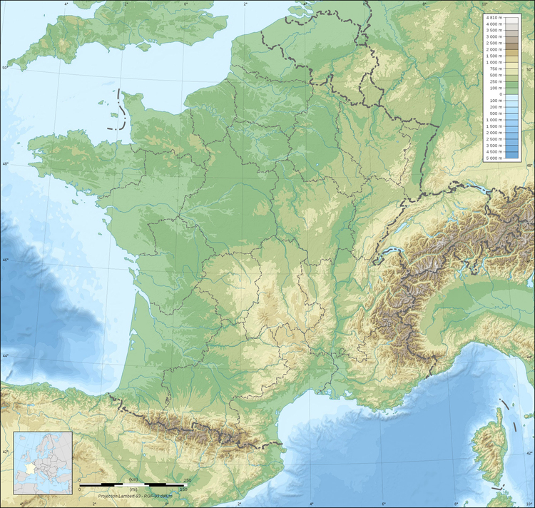 Image Topography of France