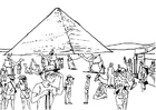 Coloring page tourism, Egypt