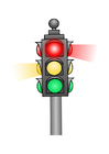 Coloring pages traffic light