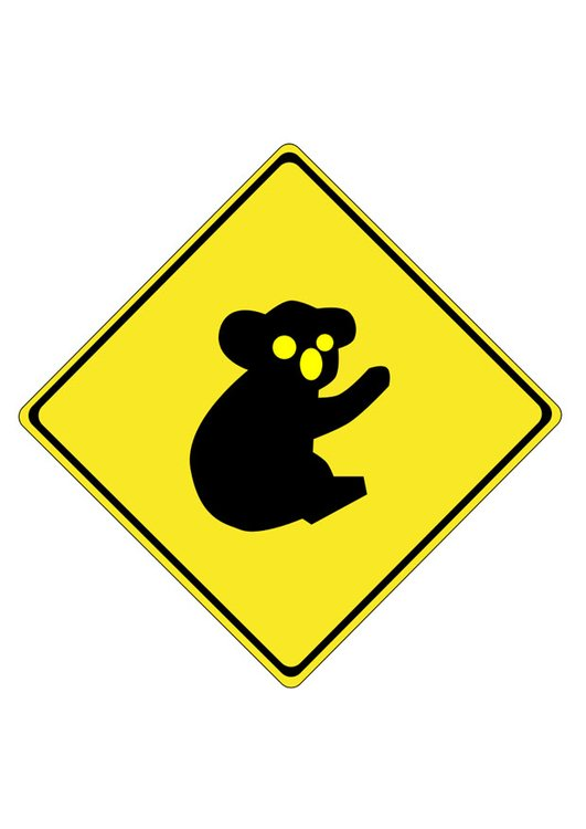 Image traffic sign - koala